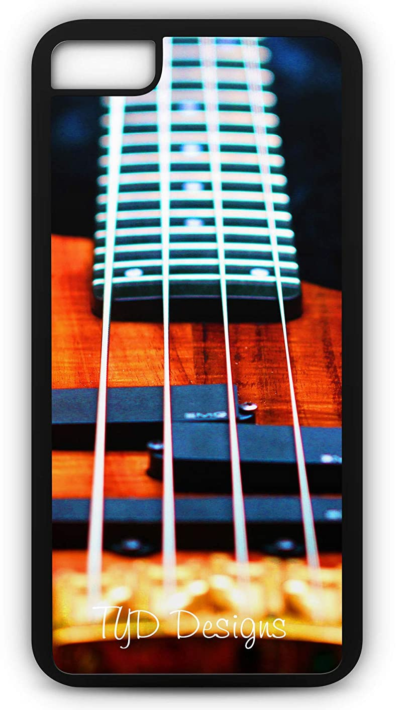 iPhone 8 Plus 8+ Case Bass Guitar Strings Music Band Concert Rock N Roll Customizable by TYD Designs in Black Rubber