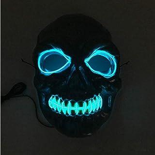OHQ MáScara Halloween Skeleton Mask LED MáScaras Glow