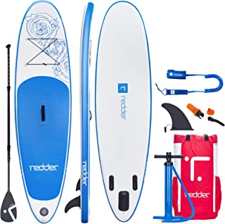 redder Inflatable Stand Up Paddle Board Surfboards with Premium SUP Accessories - Paddle, Pump, Leash, Carry Bag, Fins, No...