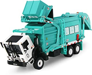 Garbage Truck Toy Model, 1:43 Scale Metal Diecast Recycling Clean Trash Garbage Rubbish Waste Transport Truck Alloy Model Mold Car Toy with Garbage Cans for Kids Toddlers Birthday Party Supplies(Blue)