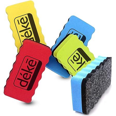 Borrador De Pizarra Blanca Magnética Deke 5 Unidades De Borrador Rectangular Magnético Seco A Granel Para Pizarras Blancas Borrar Bolígrafos Y Marcadores Ideal Para Niños Hogar Escuela Oficina Expo 4 Colores