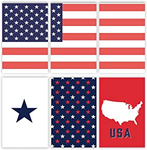 American Flag Wall Decor | Patriotic Wall Art Pictures | Americana Art Prints | USA Canvas Poster Set | American Flag Home Decore Signs Posters