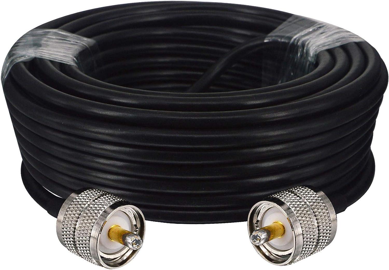 YiLIANDUO - Cable coaxial de 50 ohmios RG58 macho a PL259 macho para radio Ham CB y antena Anyzer,Dummy Load,SWR Meter