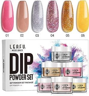 Nail Dip Powder Set Dipping Powder Refill Set 6 Dip Powder Colors 0.83oz for Nail Dip Kit Easy Use for Nail Dipping Powder Starter Kit No UV/LED Lamp Needed.