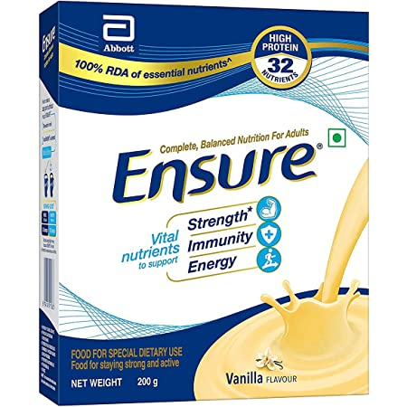 Ensure Complete, Balanced Nutrition Drink for Adults with Nutri – Strength Complex (Vanilla Flavour) – 200g