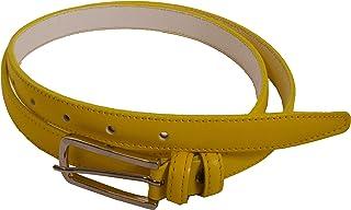 Conte Massimo Cintura Donna Sottile In Vero Cuoio, Made in Italy, Accorciabile