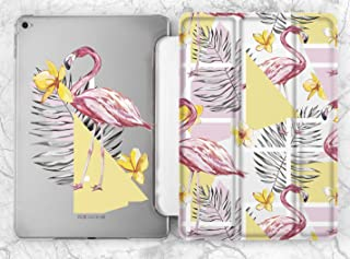 Pastel Pink Geometric Flamingo Birds Case For Apple iPad Mini 1 2 3 4 5 iPad Air 2 3 iPad Pro 9.7 10.5 11 12.9 inch iPad 9.7 inch 2017 2018 2019