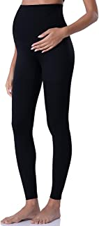 POSHDIVAH Women's Maternity Leggings Over The Belly Pregnancy Yoga Pants Active Wear Workout Leggings