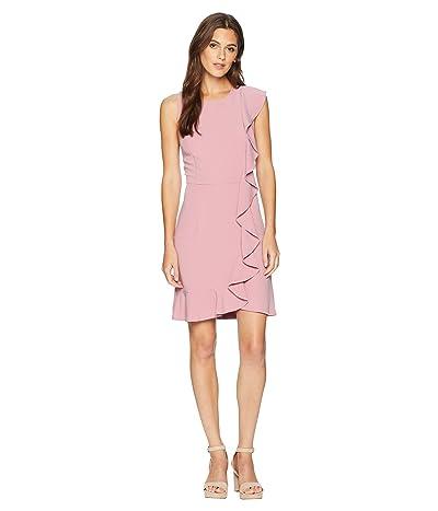 kensie Sleek Stretch Crepe Dress KS8K8276 (Faded Mauve) Women