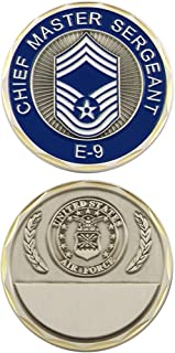 Eagle Crest, U.S. Air Force E-9 Challenge Coin, Chief Master Sergeant