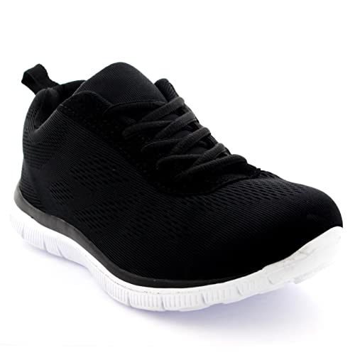 Get Fit Mens Mesh Running Trainers Athletic Walking Gym Shoes Sport Run 4d5b82ede1d6