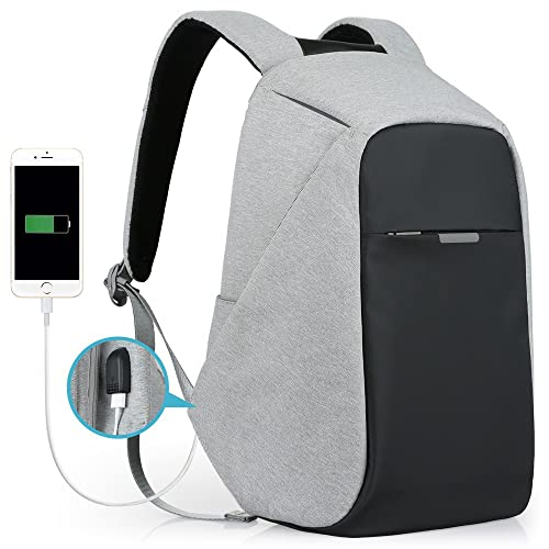 ecfe159cdf Anti-Theft Travel Backpack Business Laptop Book School Bag with USB  Charging Port for Student