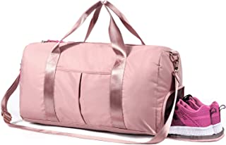 Gym Bag Sports Duffel with Wet & Shoes Compartment for Women Men