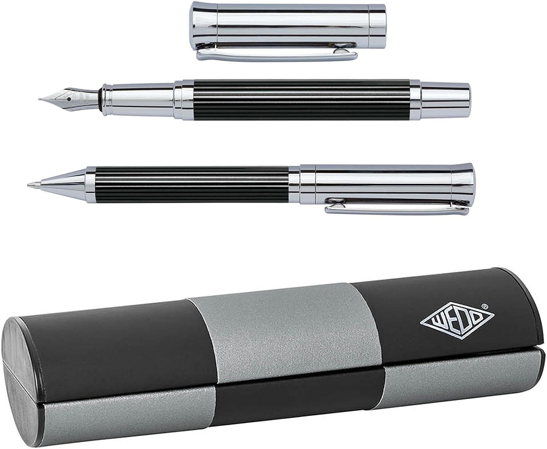 Wedo 260551326 Schreibset - Kugelschreiber und Füllhalter, Tyron Tyron Tyron (im Geschenketui) schwarz chrom B00VRNM3RC | Erlesene Materialien  4188f3