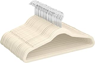 Amazon Basics - Perchas de terciopelo para trajes - Paquete de 50, Marfil