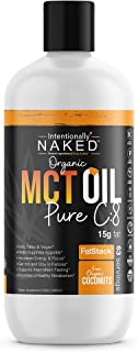 Pure C8 Organic MCT Oil - Keto, Paleo, Brain & Heart Health - Fast, Sustainable Focus & Energy - Coffee, Shakes, Salads, Cooking - Flavorless, Non-GMO, BPA Free Bottle, 32 Fluid Oz
