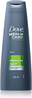 Dove Men+Care 2-in-1 Shampoo & Conditioner Fresh Clean, 300ml