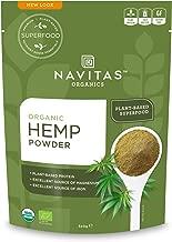 Navitas Organics Hemp Powder, 12 oz. Bag — Organic, Non-GMO, Cold-Pressed, Gluten-Free