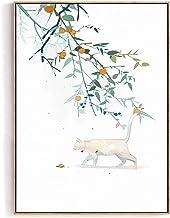 HEZHANG Styl nordycki dekoracyjny obraz salon sofa tło dekoracja ścienna ganek jadalnia obraz olejny wiszący obraz, a