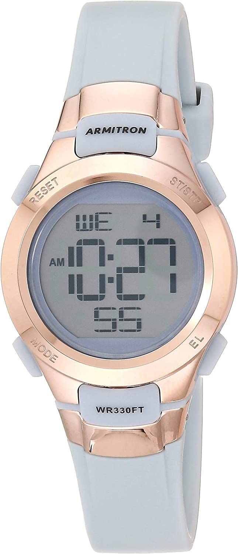 Armitron Sport Reloj Digital de la Correa de la Resina del cronógrafo de la Mujer, 45/7012