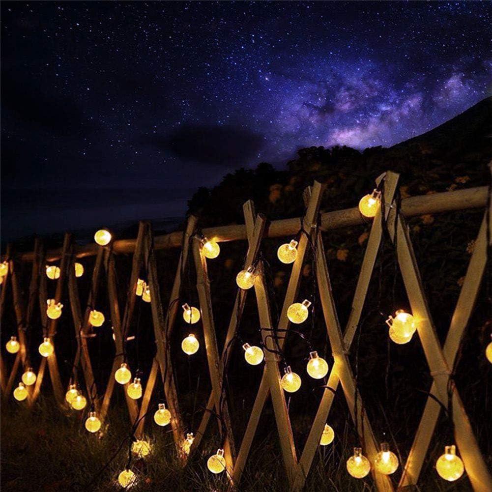 Taurusb Globe Solar-Lichterketten, 20/30/50/100 LEDs Kristallkugel Solarlampe Der Leistungs-LED Schnur-Feenhafte Licht Solar-Garlands Garten Weihnachtsdekor Für Outdoor 30 Leds