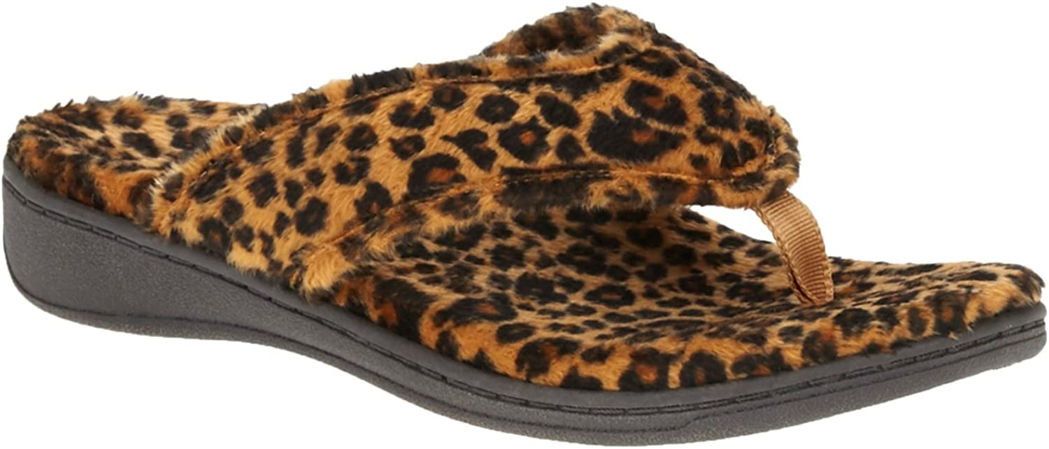 Vionic Bliss - Womens Orthotic Slipper Sandals Tan Leopard - 11