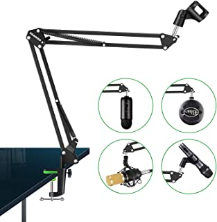 Aokeo AK-35 Microphone Stand Desk Adjustable Compact Microphone Suspension Boom Scissor Arm Stand For Blue Yeti,Blue Snowball iCE, Professional Streaming, Voice-Over, Recording, Games