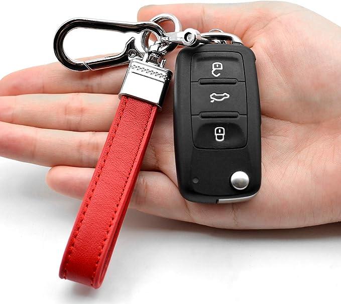 Men Creative Metal Leather Key Chain Ring Keyfob Car Keyring Keychain Re Cnsdm