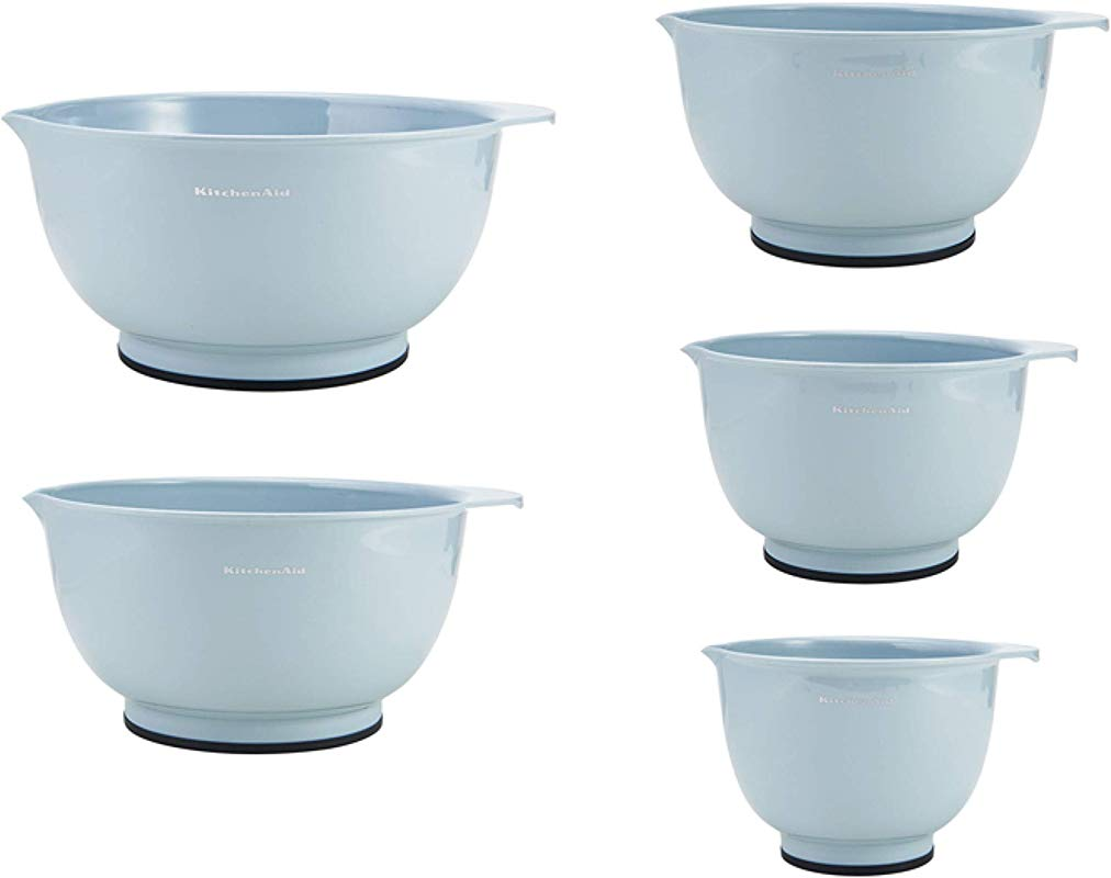 KitchenAid KE178OSMYA Classic Mixing Bowls Set Of 5 Misty Blue