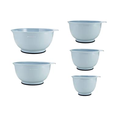 KitchenAid Classic Mixing Bowls, Set of 5, Misty Blue