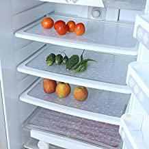 Kuber Industries Stone Design 6 Piece PVC Refrigerator Drawer Mat Set - White, 44x28x1 cm
