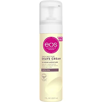 eos Shea Better Shaving Cream for Women - Vanilla Bliss   Shave Cream, Skin Care and Lotion with Shea Butter and Aloe   24 Hour Hydration   7 fl oz