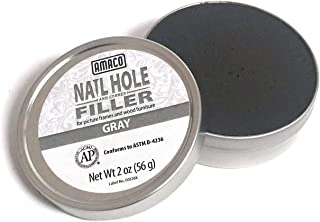 Amaco Nail Hole and Corner Filler for Wood, 2 Oz Tin, Gray