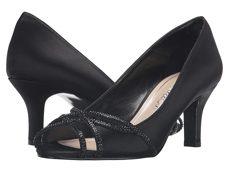 Caparros Eliza (Black Satin) High Heels