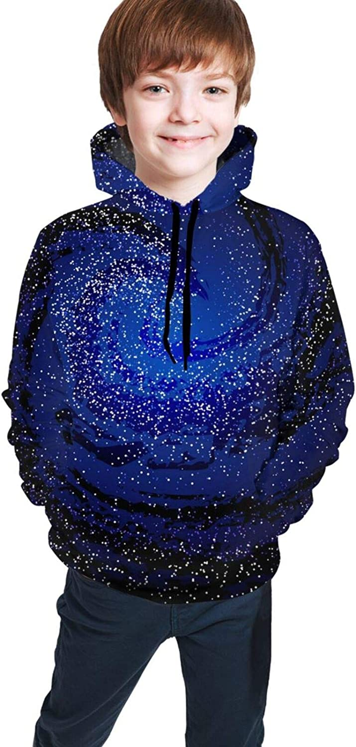 Geometric of Abstract Flowers Girls Boys Hoodies Fashion Hooded Pullover Sweatshirts Tops 7-20T