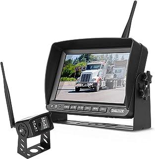 Wireless Rückfahrkamera Kit mit 7 Zoll DVR Monitor für Fahrzeuge/Pickups/LKWs/Anhänger/Busse/Van/Wohnmobile/Landwirtschaft mit 1080P Nachtsicht Signal Rückfahrkamera IP69K