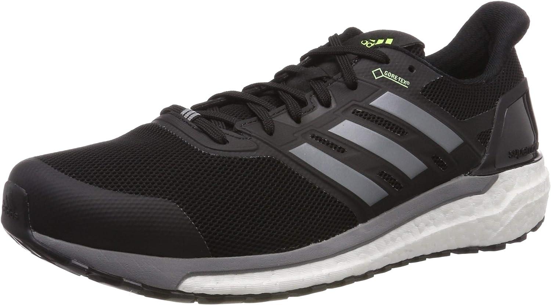 Adidas Herren Supernova GTX M Laufschuhe, schwarz grau Gelb, 50.7 EU