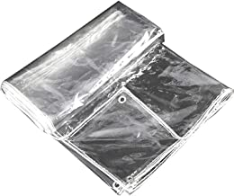 Schaduw en regendicht pooltafelhoes Transparant zeildoek, Heavy Duty Waterdicht PVC Clear Tarp Multi Purpose Versterkte ra...