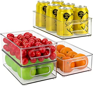 Fridge organizer | Stackable Storage Bins | Clear Plastic Pantry Rack | Refrigerator Organizer | Kitchen Pantry Cabinet | Frozen pod dividers | Mini can holder | Food Safe | Multiple Use | Pack of 2