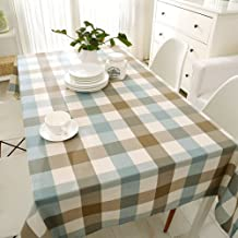 Eastern Mediterranean style book cloth/[Waterproof cotton cloth]/ linen Plaid table cloth and waterproof cotton fabric/Rectangular coffee table-cloth-A 80x120cm(31x47inch)