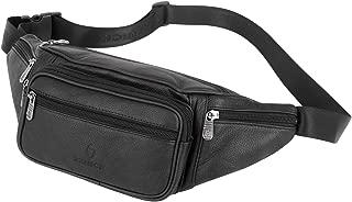 Genuine Leather Fanny Pack/Waist Bag/Organizer with Adjustable Belt, Multiple Pockets for Men