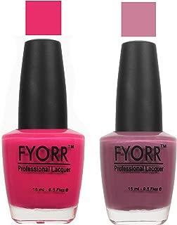 FYORR Mauve-O Pink-O Collection Nail Polish - Set of 2 (15 Ml Each)
