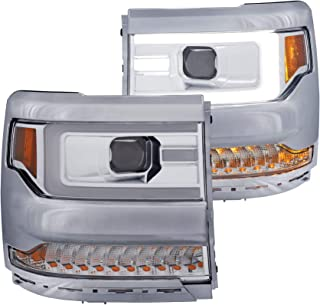 ANZO USA 111374 Projector Set w/Plank Style Back Not for Use w/Factory LED Headlights Without HID Kit