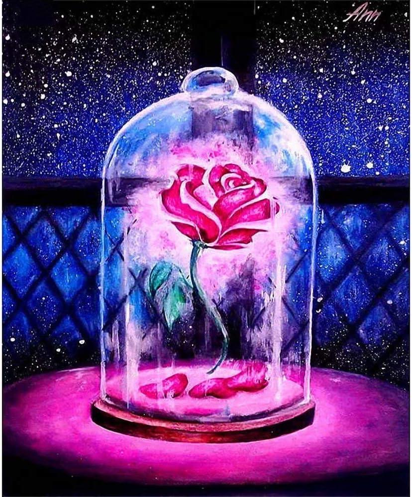DIY 5D Max 47% OFF Diamond New York Mall Painting Kit Embroi Rose Glass Star Full