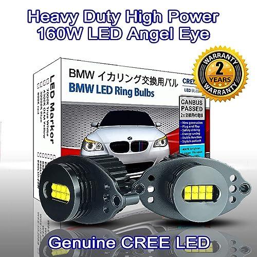 CREE LED 80W Angel Eyes Halo Ring Light Bulb HeadLight BMW E90 E91 LCI 2009+