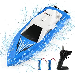 JJRC RC Boats Boat Toys for Pools and Lakes Remote Control Boats for Kids Adults 2.4Ghz Radio Controlled Boat Self Rightin...