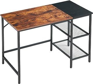 YMYNY 100cm Bureau d'ordinateur, Table d'étude, Table Informatique, Table de Travail avec 2 Étagères de Rangement, pour Bu...