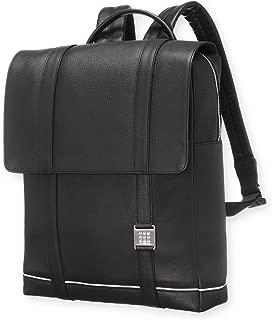Moleskine 数码设备黑色皮革背包 尺寸可达 15英寸