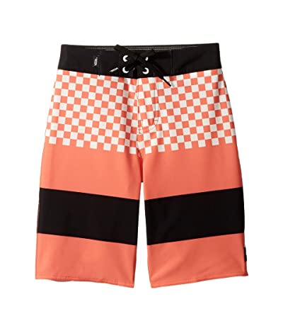 Vans Kids Era Boardshorts (Little Kids/Big Kids) (Ember Glow Checker) Boy