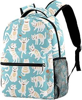 حقيبة ظهر خفيفة الوزن حقيبة مدرسية للكلية حقيبة كمبيوتر محمول Daypack للبالغين والأطفال حقيبة ظهر عادية للقطط اللطيفة